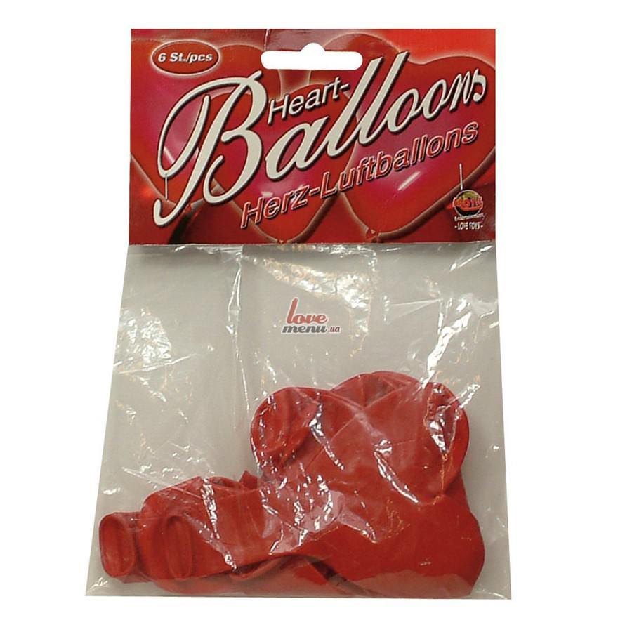 Воздушные шари в виде сердца - Heart Balloons, 6 шт - 2